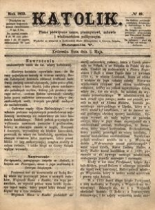 Katolik, 1872, R. 5, nr 19