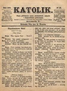 Katolik, 1872, R. 5, nr 37