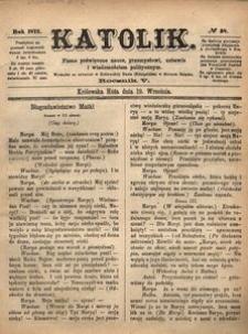 Katolik, 1872, R. 5, nr 38