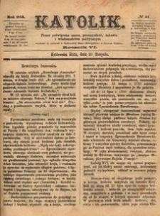 Katolik, 1873, R. 6, nr 34