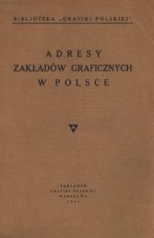 Adresy zakładów graficznych w Polsce