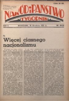 Naród i Państwo, 1937, R. 2, nr 49/50