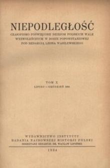 Niepodległość, T. 10 (lipiec 1934 - grudzień 1934)