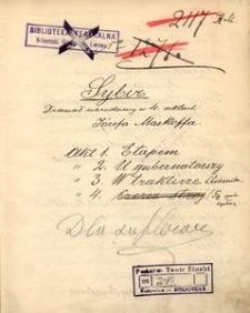 Sybir. Dramat narodowy w 4 aktach Józefa Maskoffa