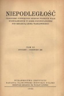 Niepodległość, T. 11 (styczeń 1935 - czerwiec 1935)
