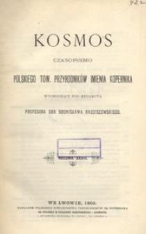 Kosmos, 1903, R. 28