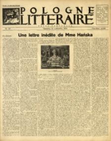 Pologne Littéraire, 1934, A. 9, Nr. 96