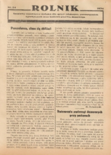 Rolnik, 1934, [R. 32], nr 24. - Wyd. równoległe