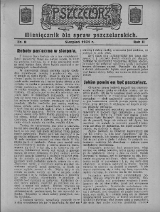 Pszczelarz, 1931, R. 2, nr8