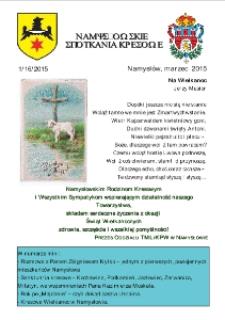 Namysłowskie Spotkania Kresowe 2015, nr 1 (16).