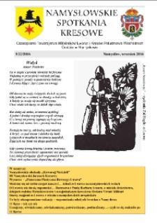 Namysłowskie Spotkania Kresowe 2016, nr 3 (22).