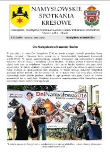 Namysłowskie Spotkania Kresowe 2016, nr 3 (22a). Wydanie specjalne.