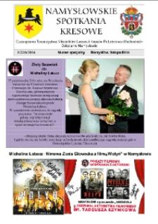 Namysłowskie Spotkania Kresowe 2016, nr 3 (22b). Numer specjalny.