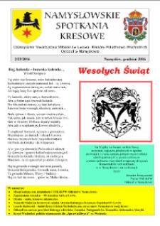 Namysłowskie Spotkania Kresowe 2016, nr 4 (23).