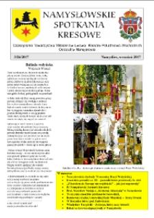 Namysłowskie Spotkania Kresowe 2017, nr 3 (26).