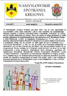 Namysłowskie Spotkania Kresowe 2017, nr 4 (26a). Numer specjalny.