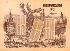 Kurjer Warszawski 1915. Rok Założenia 1821