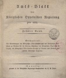 Amts-Blatt der Königlichen Oppelnschen Regierung pro 1825, 10. Bd.