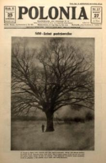 Polonia, 1929, R. 6, nr 27 [ilustracje]