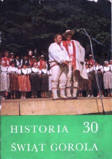 30 Świąt Gorolskich w Jabłonkowie : broszura jubileuszowa