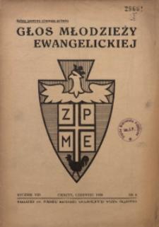 Głos Młodzieży Ewangelickiej, 1939, R. 8, Nr. 6