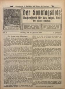 Der Sonntagsbote. Wochenschrift für das katholische Volk der Diözese Schlesien, 1926, Jg. 2, Nr. 9