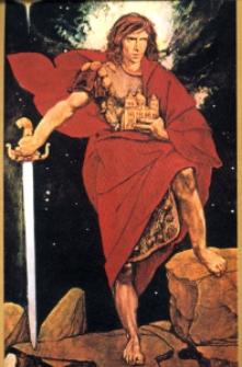 Święty Michał Archanioł - obraz Henryka Rosena.