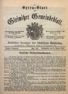 Gleiwitzer Gemeindeblatt, 1915, Jg. 6, Nr. 92