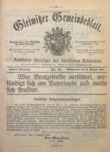 Gleiwitzer Gemeindeblatt, 1915, Jg. 6, Nr. 93