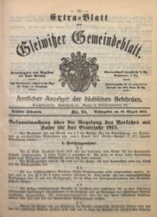 Gleiwitzer Gemeindeblatt, 1915, Jg. 6, Nr. 94