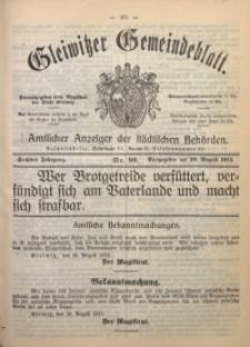 Gleiwitzer Gemeindeblatt, 1915, Jg. 6, Nr. 96