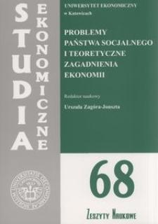 Problemy państwa socjalnego i teoretyczne zagadnienia ekonomii