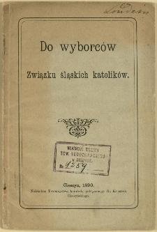 Do wyborców Związku śląskich katolików