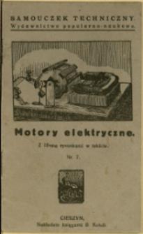 Motory elektryczne : z 18-ma rycinami w tekście