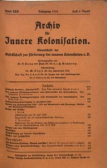 Archiv für Innere Kolonisation, 1930, Bd. 22, H. 8