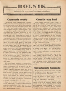 Rolnik, 1935, [R. 33], nr 33
