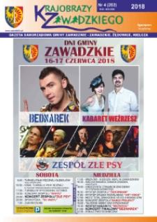 Krajobrazy Zawadzkiego : gazeta samorządowa gminy Zawadzkie : Zawadzkie, Żędowice, Kielcza 2018, nr 4 (202).