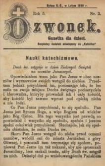 Dzwonek, 1898, R. 5, nr 2