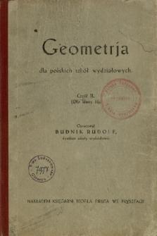 Geometrja dla polskich szkół wydziałowych