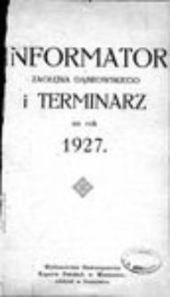 Informator Zagłębia Dąbrowskiego i terminarz na rok 1927