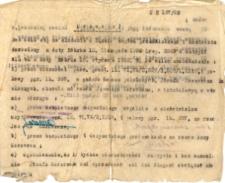 Uchwała z dnia 20 lutego 1928 roku w sprawie kontraktu przedślubnego.