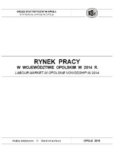 Rynek pracy w województwie opolskim w 2014 r.