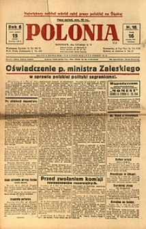 Polonia, 1929, R. 6, nr 16