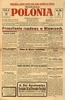 Polonia, 1929, R. 6, nr 36