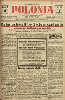 Polonia, 1926, R. 3, nr 91