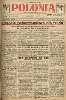 Polonia, 1926, R. 3, nr 192