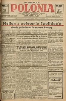 Polonia, 1926, R. 3, nr 208