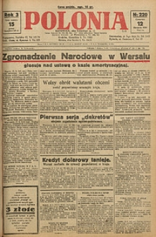 Polonia, 1926, R. 3, nr 220