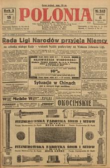 Polonia, 1926, R. 3, nr 245