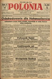 Polonia, 1926, R. 3, nr 285